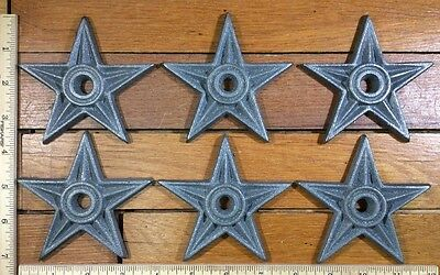 6 Cast Iron Stars Architectural Stress Washer Rustic Texas Barn Decor 4""