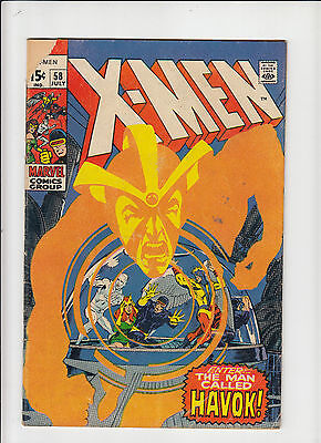 X-Men #58 1st Havok g/vg Neal Adams!