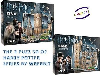 Harry Potter Hogwarts Poudlard Astronomy Tower And The Great Halll Wrebbit 3D