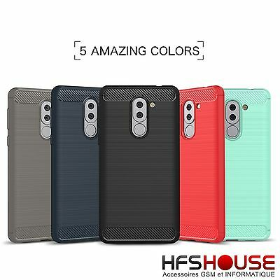 Para Huawei Honor 6X Funda Carcasa Gel Tpu Carbon Cover Case