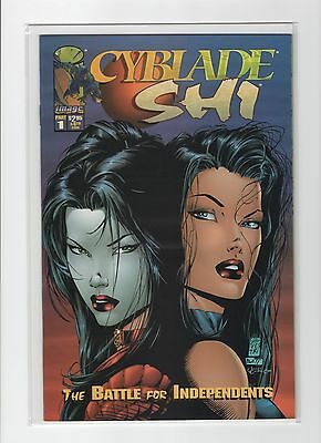 Cyblade Shi Battle for Independents #1 NM- Silvestri Witchblade Variant Cover