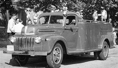 1947 Ford TASC Fire Truck Red Bank New Jersey Factory Photo ca6191