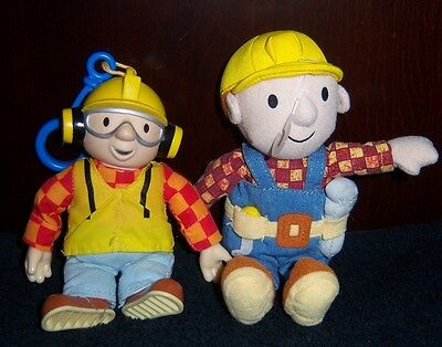 "BOB THE BUILDER 7"" Plush/Soft Doll & BOB THE BUILDER 5"" Backpack Clip"
