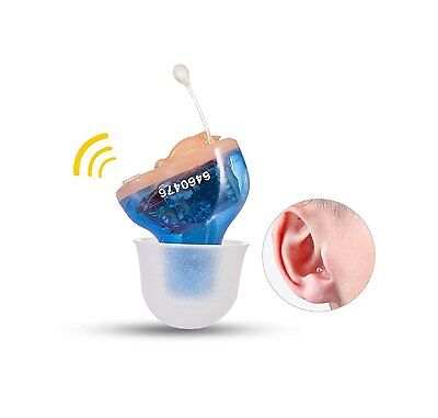 New Hearing Aid CIC Invisible in Canal small Sound Voice Amplifier mini USA ship