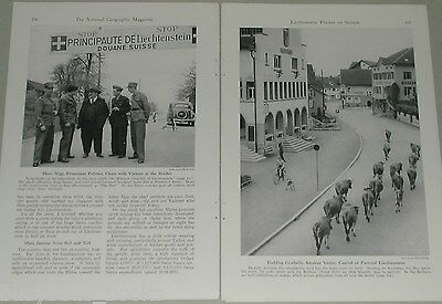 1948 magazine article about Liechtenstein, people, history, postage stamps etc