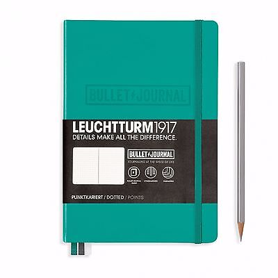 Leuchtturm1917 Notebook A5 Bullet Journal 240 Dotted Pages Emerald Green