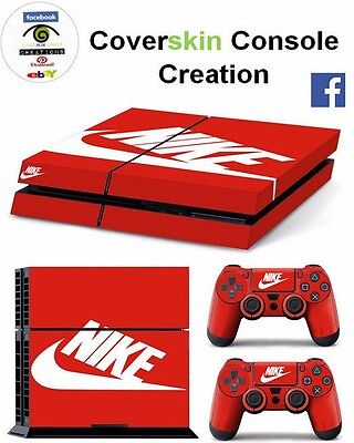 SKIN PS4 NIKE Console COVER PS4 Decal Skin LIMITED EDITION + CONTROLLERS