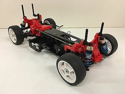 Tamiya TA02 Touring Car New Built w/used 53166 FRP Chassis Lot of Hop-Up Options