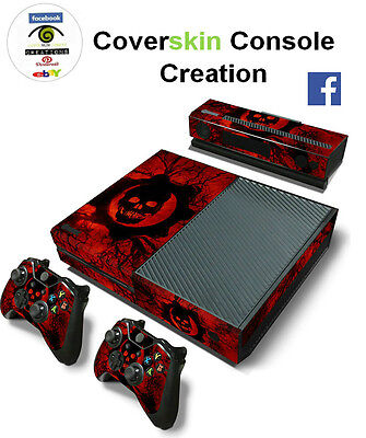 SKIN XBOX ONE GEAR OF WAR Console COVER Protective Skin Sticker controllers