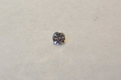 beautiful natural 2,7mm round loose diamonds si2-si3 color h white carat 0.07