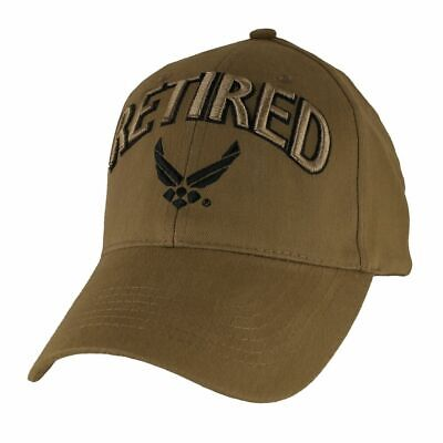 737c7559ce45f NEW U.S AIR Force Retired Coyote Brown Hat 3D Embroidered Ball Cap ...