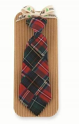 Mud Pie Christmas Holiday Best Baby Boy Patchwork Plaid Necktie 1582121