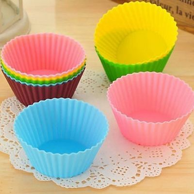 10pcs  Tool Chocolate Baking Cup Round Cake Muffin Cupcake Mold Silicone