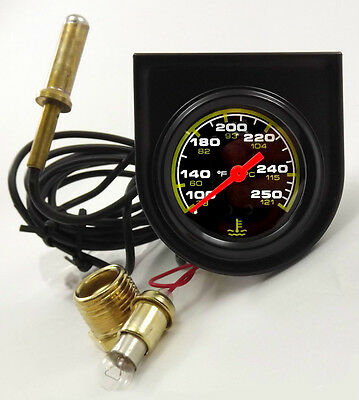 """Dual Scale 2"""" (52mm) Mechanical Temperature Gauge Complete with Sender etc Kit"""