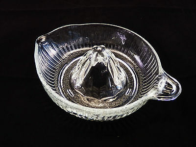 Vintage Clear Glass Juicer - Reamer