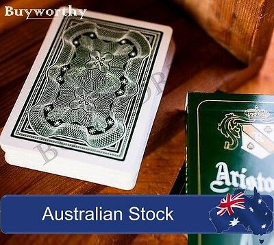 Aristocrat Green Playing Cards Premium Linen Finish Deck by Art of Play NEW