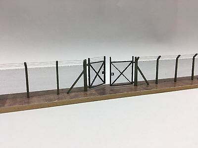 Laser Cut Chain Link Security Fence & Gates Oo Scale 1:76 Model Railway Lx007-Oo