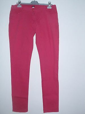 Lovely Pink Ladies Girls Jeans Trousers Size 14R (88 cm)