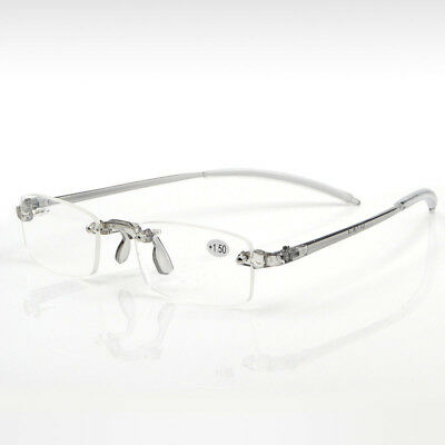 Unisex Women Men New Rimless Resin Memory Reading Eyeglasses Reader +1.00~+4.00