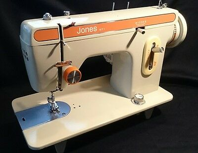 Jones ZigZag Semi Industrial Heavy Duty Sewing Machine PAT Tested Leather Canvas