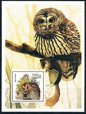 Bloc Sheet Hiboux Owl  Neuf MNH **  Guinée 2002 Private local/issue