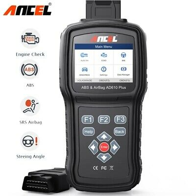 Ancel AD610 Elite ABS SAS ECU Airbag SRS Code Reader Diagnostic Scanner Tool US