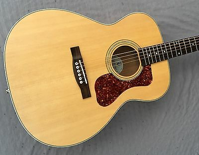 Guild Westerly Collection OM-240E Acoustic/Electric Guitar In Natural W/Gigbag