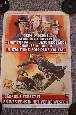 Once Upon A Time In The West (Original Belgian Poster)