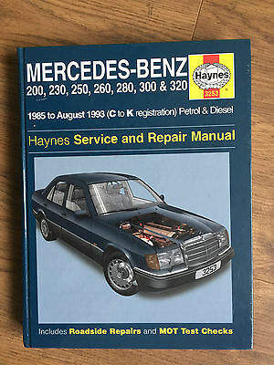 MERCEDES BENZ 124 SERIES HAYNES MANUAL 200 230 250 260 280 300 320 1985 to 1993