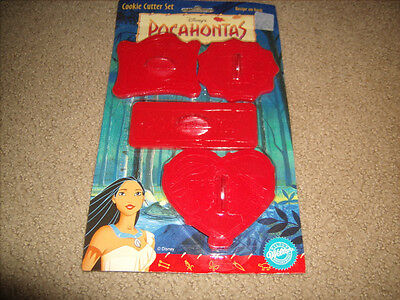Wilton Disney's POCAHONTAS Cookie Cutter Set of Four NEW and SEALED