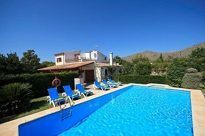 Pollensa Mallorca Majorca, 4 bedroom  With Private Pool Holiday villa rental