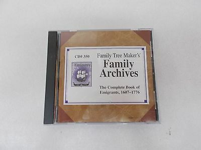 CD 350 Family Tree Maker's The Complete Book of Emigrants 1607-1776 RESEARCH