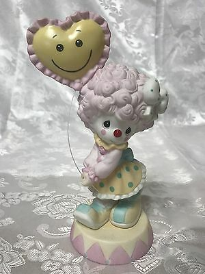 Precious Moments Girl Clown & Balloon You Fill My Heart With Smiles 123009