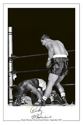 4x6 SIGNED AUTOGRAPH PHOTO PRINT OF ROCKY MARCIANO #44