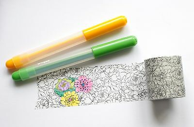 WASHITAPE  Dovecraft Colour Your Own Washi Masking Tape - 5m Colouring Gift Tape