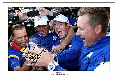 4x6 SIGNED AUTOGRAPH PHOTO PRINT OF MCILROY POULTER GARCIA WESTWOOD #44