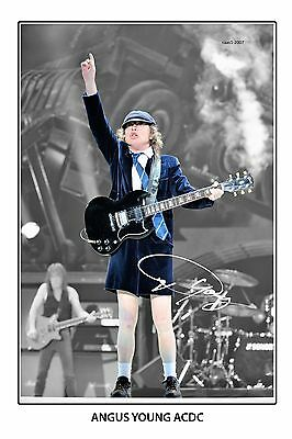 4x6 SIGNED AUTOGRAPH PHOTO PRINT OF ANGUS YOUNG #44