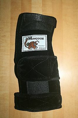 """Mongoose """"Lifter"""" Bowling Wrist band Support, LRL Right Hand, Large ,Black"""