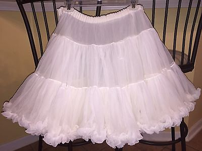 Square Dance White Petticoat- Medium/ Large
