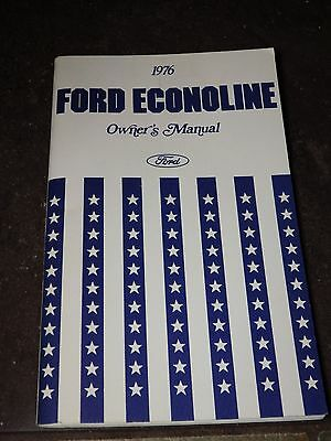 1976 Ford Econoline Van Owners Manual EXCELLENT Vintage Find Great Condition