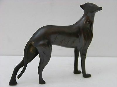 Bronze Metal Greyhound Whippet Dog Statue Vintage