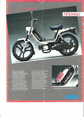 MBK HOBBY IV + WEEKY CACHAREL 1986 / catalogue brochure