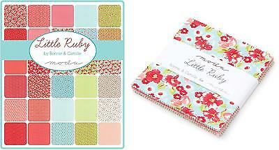 Patchwork/quilting Fabric Moda Charm Squares/packs - Little Ruby