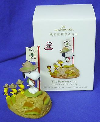 Hallmark Peanuts Ornament The Fearless Crew Snoopy Beagle Scouts Hiking to Camp