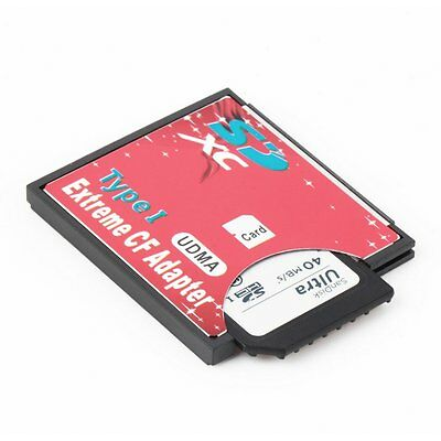 High Speed SDXC SDHC SD MMC to Compact Flash CF Card Reader Adapter New CQ