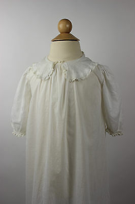 Antique White Cotton Child's Dress Antique Childrens Clothing
