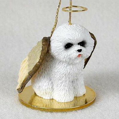 BICHON FRISE ANGEL DOG CHRISTMAS ORNAMENT HOLIDAY  Figurine Statue