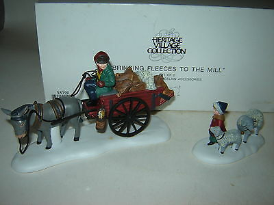 Dept 56 Dickens Village - Bringing Fleeces To The Mill