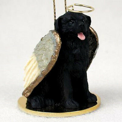 NEWFOUNDLAND ANGEL DOG CHRISTMAS ORNAMENT HOLIDAY Figurine Statue