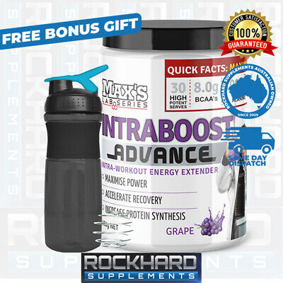 Max's Intraboost Advanced 30 Serves BCAA's Intra Boost Recovery  L-Leucine